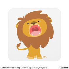 Mighty but cute :) This cute cartoon roaring lion cartoon is fully customizable and available on other items :) Cartoon Lion, Cute Cartoon, Safari Png, Scary Lion, Baby Animals, Cute Animals, Lion Sketch, Lion Drawing, Roaring Lion