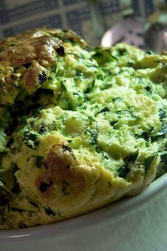 souffle di broccoli vegetariano