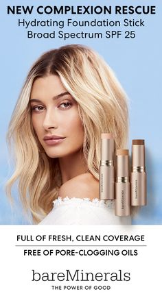 Hailey Bieber loves this NEW clean, water-based liquid foundation in a stick. Use the multi-tasking formula as foundation, concealer, contour or for touch-ups. Now available at ULTA. Beauty Skin, Health And Beauty, Beauty Makeup, Hair Beauty, Healthy Beauty, Baking Soda For Hair, Baking Soda Shampoo, Pixie, Mineral Foundation