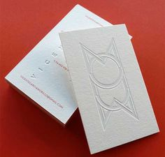 White Letterpress Business Cards With Blind Deboss Carte De Visite Gamme Cartes Haut