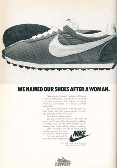 Nike Shoes OFF!> Vintage Nike 1977 sneaker ad @ The Deffest Vintage Sneakers, Retro Sneakers, Sneakers Nike, Vintage Nike, Vintage Ads, Nike Waffle Trainer, Sneaker Posters, Sports Advertising, Nike Ad