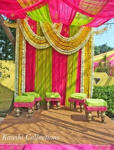 Latest ideas for Mehndi Stage Decorations Desi Wedding Decor, Wedding Stage Decorations, Flower Decorations, Wedding Events, Wedding Ideas, Wedding Blog, Engagement Decorations, Backdrop Decorations, Wedding Designs