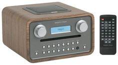 Tangent - Cinque - Radio Réveil compact - Lecteur CD - Puissance 2x5W - Entrée iPod/Mp3 - Noyer
