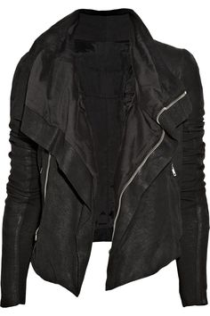 Rick Owens blister washed leather jacket. How I wish I could afford this. $2465