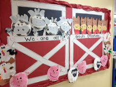 My farm animal bulletin board.