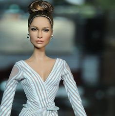 """The """"Jennifer Lopez Red Carpet"""" Doll by Mattel, Black Label Barbie; as restyled & repainted by Noel Cruz   Visit his site for more of his work at www.ncruz.com/"""