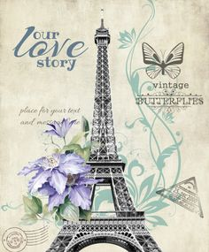 Eiffel Tower, Purple Flowers and butterflies, with postmarks. Images Vintage, Vintage Pictures, Vintage Paris, Paris Wallpaper, Paris Images, Decoupage Vintage, Paris Art, Paris Eiffel Tower, Paris Theme