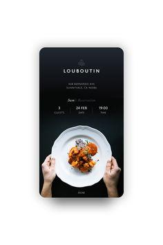 Day054 confirmreservation1 Mobile App Design, Web Mobile, App Ui Design, User Interface Design, Page Design, Design Case, Food Poster Design, Food Design, App Design Inspiration