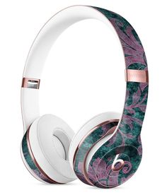 Turquoise and Burgundy Floral Velvet Full-Body Skin Kit for the Beats by Dre Solo 3 Wireless Headphones Best In Ear Headphones, Bluetooth Headphones, Beats By Dr Dre, Iphone Accessories, Audiophile, Inspirational Gifts, Full Body, Headset, Turquoise