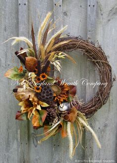 Autumn Woodland Partridge Wreath ~A New England Wreath Company Designer Original~ Elegant Fall Wreaths, Autumn Wreaths, Holiday Wreaths, Fall Door Wreaths, Rustic Wreaths, Wreath Crafts, Diy Wreath, Wreath Ideas, Grapevine Wreath