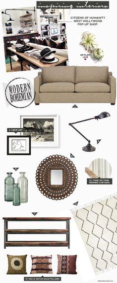 modern boho living room inspo.