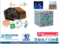MINECRAFT - CORTADOR DE GALLETAS - PACK SHIP READY EAN: 847509003428 Material: metal. Presentación: caja. Medidas: 7,6cm. MINECRAFT - LÁMPARA - DIAMOND ORE AZUL EAN: 847509003121 Material: PVC. Presentación: caja. Medidas: 10x10x10cm. Necesita dos pilas AA no incluidas.