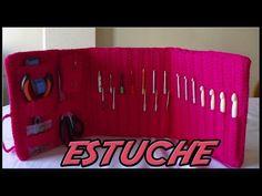 DIY Learn How to Crochet Hook Case Holder Folder Wallet - Pouch Storage for Hooks Crochet Hook Case, Crochet Hooks, Crochet Baby, Crochet Videos, Crochet Slippers, Learn To Crochet, Crochet Accessories, Beautiful Crochet, Flower Crafts