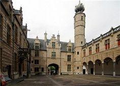 Het Markiezenhof Historisch Centrum, Bergen op Zoom, Noord-Brabant, Netherlands - binnenplaats.