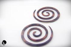 4g Spiral Gauge XXL Spiral Earring Rose Wood Triple Spiral Piercing 5mm Earlobe GW020-05-2 #BaliTribalJewelry #AllAboutETSY