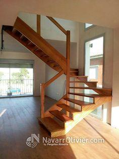 Escalera en madera de Iroko by navarrolivier.com