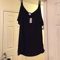 Sexy top ! NWT Cold shoulder sleeves  :) the hanger doesn't do it justice ! Fits like L/XL Maurices Tops Blouses