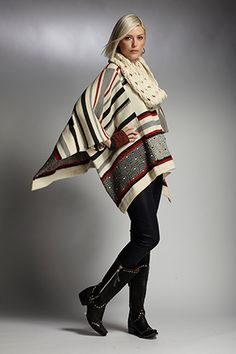 INDIGENOUS organic + fair trade fashion line preview for Fall & Winter 2013. Poncho.#Fashiontakesaction