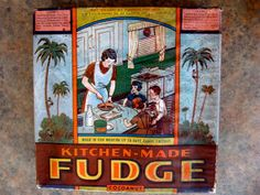 Antique Bakery Fudge Large Candy Box early 1900s by reginasstudio