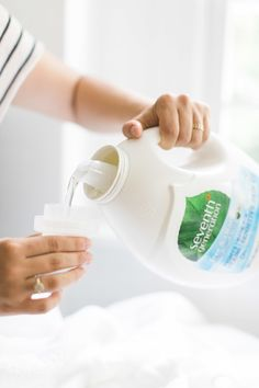With Seventh Generation, you won't find a single ounce of artificial brighteners: http://www.stylemepretty.com/living/2015/09/24/laundry-made-gorgeous-with-seventh-generation/