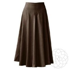 "Coldwater Creek Choco Faux Chamois Skirt HP Lovely Long Chocolate Crinkle Faux Chamois Skirt.  ▪ Skirt has half elastic band with V-yoke fitted waist & zipper closure.  ▪ Waist: 29""-31"" inches, Length: 39 1/2"" inches  All measurements are approximate.  Brand New with tag & never worn.   All Sales Final 