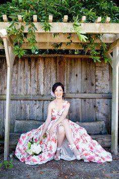 floral wedding dress!
