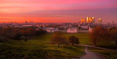 London from Greenwich. Nothing like being at the top of this hill at sunset.