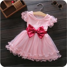 Korean fishing line edge sewing dresses infants and young children baby dress fashion summer dress children dress children's clothing