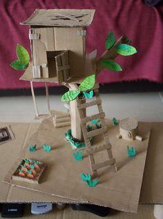 maison dans un arbre bricolage d'entrée