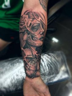 Tattoo. Day of the dead
