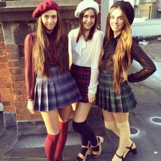 American Apparel skirts, blouses, hats, socks, and shoes