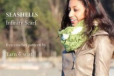 Ravelry: Seashell Infinity Scarf pattern by Tanya Shliazhko