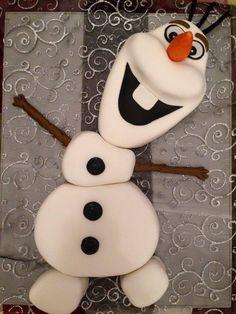 c'était l'anniversaire de ma fille qui adoreeeee la reine des neiges j'ai voulu lui faire plaisir et surtout l'épater avec son gâteau j'ai choisi de lui faire Olaf j'aime beaucoup ce petit bonhomme de neige et je savais qu'il allait lui faire briller...