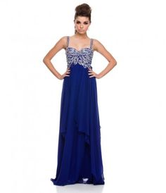 This elegant chiffon gown features a delicately beaded bodice and straps.......Price - %0D%0A                %0D%0A                    $50.00                -MQ0vmQOk