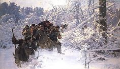 Return with a bear by Julian Fałat, 1892 Muzeum Narodowe w Warszawie (MNW) Classic Paintings, Art Academy, Outdoor Art, Winter Landscape, National Museum, Best Artist, Munich, Les Oeuvres, Art History