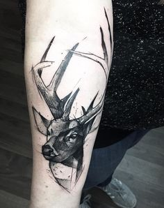 Deer sleeve tattoo for women - 85+ Inspiring Deer Tattoo Designs