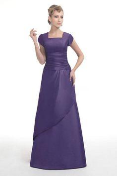 9021e06bad 2015 Square Purple Zipper Short Sleeves Satin Floor Length Mother of the  Bride Dresses Bella MBD1551