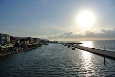 Sun over Lefkada Town Exotic Beaches, Greek Islands, More Photos, Greece, River, Sun, Outdoor, Beautiful, Greek Isles