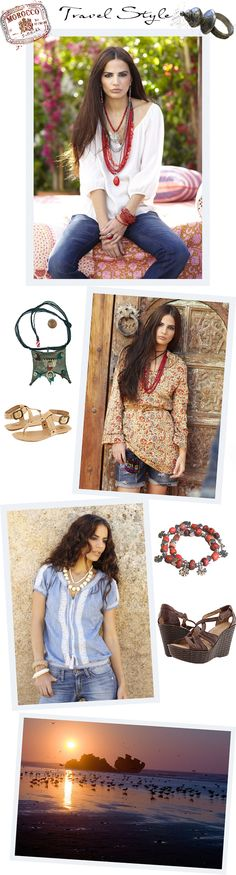 980e545a49d TRAVEL STYLE MOROCCO Essaouira - Lucky Brand catalina peasant top John  Robshaw tunic Moroccan berber