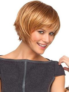 Love this cut and color. Very versatile and sassy!