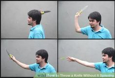 Image titled Throw a Knife Without It Spinning Step 3