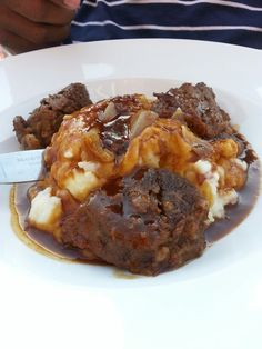 Braised short ribs at Water Buffalo restaurant in Milwaukee. #FoodTravels