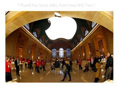 "#NYC #BigApple says ""I Thank You #SteveJobs"" Help us get the world here http://www.facebook.com/IThankYouSteveJobs"