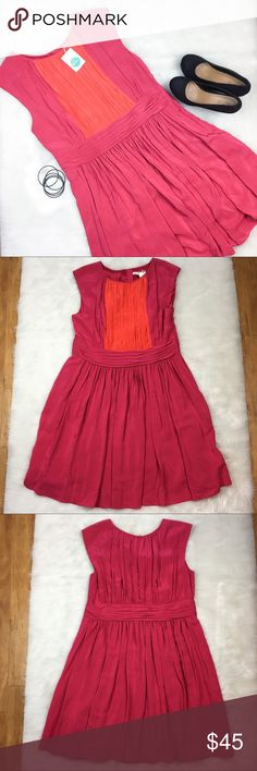 Boden A-Line Dress Boden a-line pink and orange dress. Size 14. Approximate measurements are 39' long and 44' bust. NWT.  This dress is graduation or wedding ready! ❌No trades ❌ Modeling ❌No PayPal or off Posh transactions ❤️ I 💕Bundles ❤️Reasonable Offers PLEASE ❤️ Bundle & SAVE❗️❗️ Boden Dresses Mini