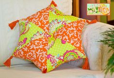 Hexagonal pillow tutorial: https://sew4home.com/projects/pillows-cushions/407-citrus-holiday-elegant-hexagonal-pillow