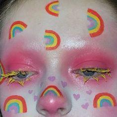 Eye Makeup Steps, Eye Makeup Art, Clown Makeup, Simple Eye Makeup, Cute Makeup, Smokey Eye Makeup, Pretty Makeup, Beauty Makeup, Halloween Makeup Clown