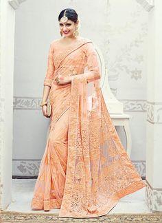 Partywear Sari Indian Wedding Saree Designer Bollywood Pakistani Ethnic Dress #TanishiFashion #DesignerSaree