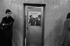 John Vink - Brussels. 1/12/1975: Incident at Midi station.
