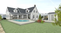 Beachhouse Living - New England House. Building our dream home. Here is a rendering of our house to be...