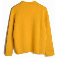 Vintage 60s Austrian Wool Ski Sweater in Mustard Yellow women's medium (€52) ❤ liked on Polyvore featuring tops, sweaters, wool crewneck sweater, ski sweater, vintage tops, mustard yellow top and yellow sweater